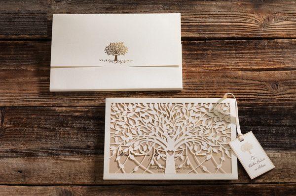 Faire part mariage arbre