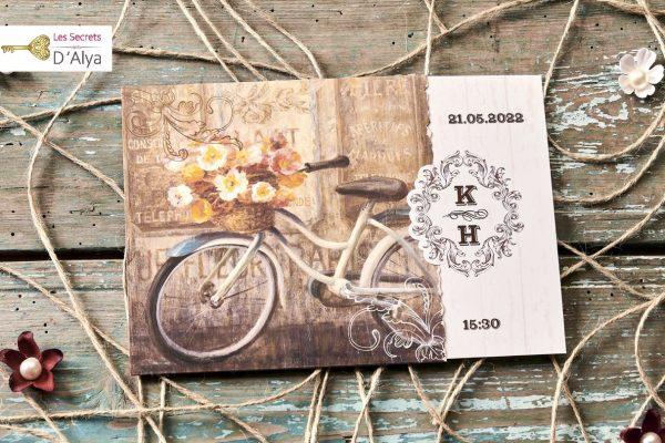 Faire part bicyclette