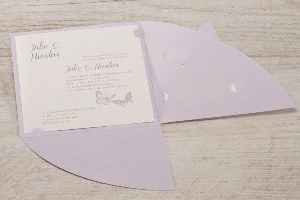 Faire papillon violet
