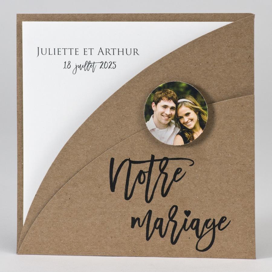 """Faire part vintage """"Notre mariage"""""""