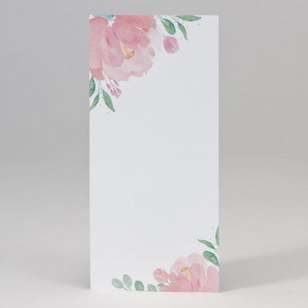 Menu individuel fleurs rose