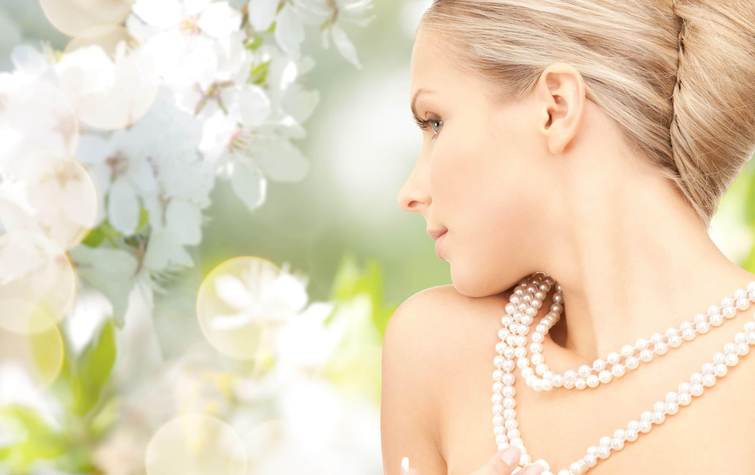 Bijoux de mariage : collier de perles