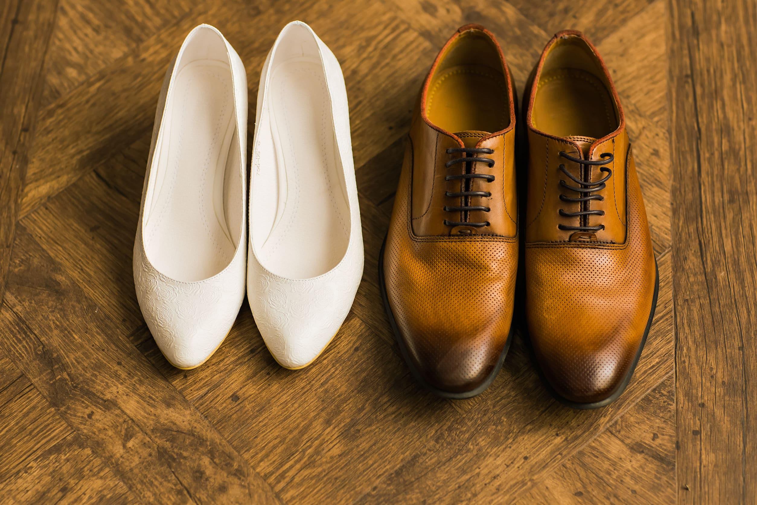 chaussures de mariage plates pour la mariée