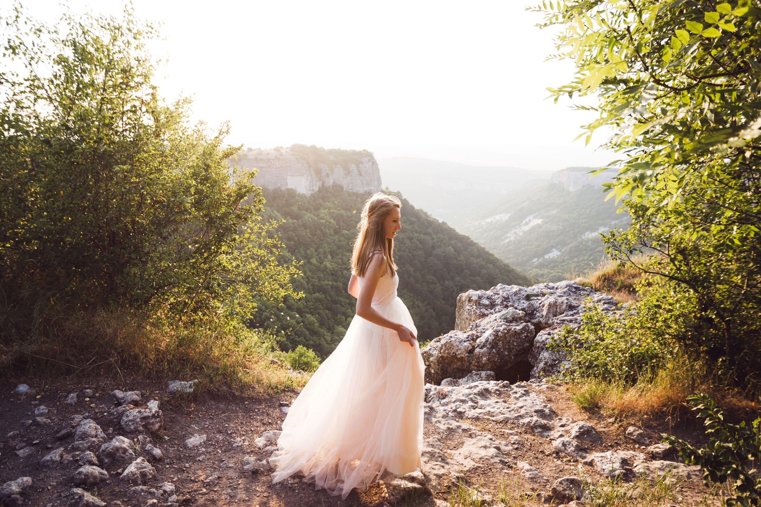 Mariée au top dans les montagnes