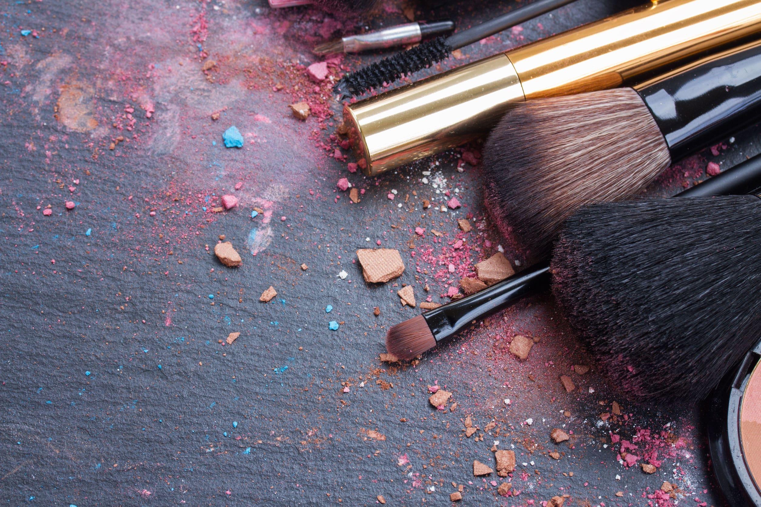 kit de maquillage de la mariée