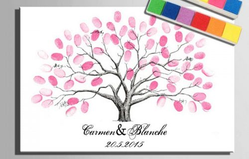 0-Wedding-gifts-for-guests-Love-Bird-Personalized-Canvas-Fingerprint-Tree-Painting-Wedding-guest-book-Canvas-painting